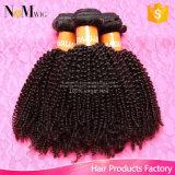 Линять и путать Afro волос девственницы 8A свободно курчавое перуанского индийского бразильского Kinky