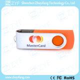 Disque orange du plastique 8GB USB d'émerillon de cadeau de festival avec le logo fait sur commande (ZYF1817)