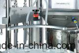 Automatische Einspritzung abgefüllte Flaschen-abfüllende füllende u. mit einer Kappe bedeckende Maschine