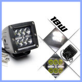 """3 """" 18W 6 LEDs 4X4 4WDのオフロード洪水の点のWatorproof白いLED作業ライト(CK-WC0603A)"""