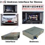 Auto-androide Navigations-Schnittstelle für 2014-2016 Toyota-Siena-Aufsteigen-Noten-Navigation, WiFi, BT, Mirrorlink, HD 1080P, Google Karte, Spiel-Speicher, Stimme