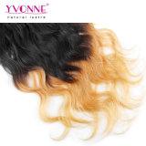 Clip peruano del pelo humano de Ombre en extensiones del pelo