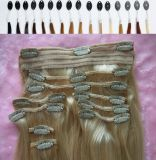 Hair umano Clip in Hair Extensions per White Women