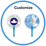 Ventilateur de main de PVC de la coutume pp