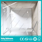 Portas dobro articuladas de vidro à terra que vendem a porta simples do chuveiro do vidro Tempered (SE706H)