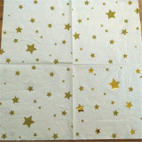 Os guardanapo de papel do partido novo da estrela da folha do projeto, dobram o guardanapo de papel