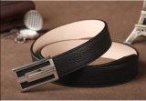 Correia de couro formal da curvatura da venda por atacado de couro feita sob encomenda da correia do metal
