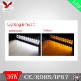Barre tous terrains d'éclairage LED de Yellow&White de couleur duelle avec à télécommande sans fil