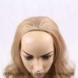 Capelli sintetici femminili di Remy della nuova di modo parrucca riccia del Brown