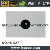 55 * 36 mm audio óptico Módulo de pared placa dentro de las paredes