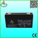batería de plomo recargable de 6V 1.2ah 20hr para la luz eléctrica