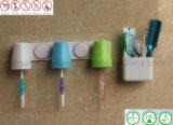 Установленный стеной держатель зубной щетки вспомогательного оборудования ванной комнаты с множественными чашками