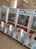 2015 행복한 세계 쇼핑 센터를 위한 소형 견면 벨벳 장난감 클로 기중기 기계