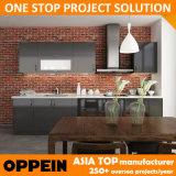 Linha rápida moderna gabinete da estratificação do preto da entrega de cozinha modular (OP14-K006)