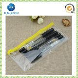 Saco plástico da pena do PVC da forma com Zipper (JP-plastic049)