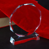 Trofeo barato del vidrio cristalino para la promoción