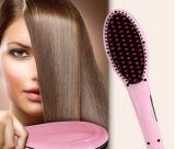毛をまっすぐにするためのLCDの陶磁器のブラシを持つ電気毛のストレートナ