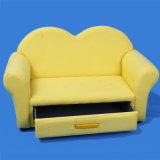 Sofá del asiento de los muebles dos del bebé con almacenaje/muebles de los cabritos