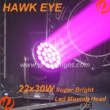 New Hawk Eye 22X30W RGBW 4in1 LED- Lichtstrahl- Moving Head