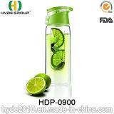 750ml BPA освобождают бутылку воды Infuser плодоовощ Tritan, портативную пластичную бутылку воды вливания (HDP-0900)