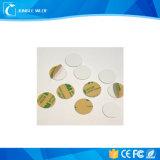 白いDia 30mm Ntag213 13.56MHz ISO14443A NFCのラベル