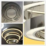 Moderner Hotel dekorativer Mulitlayer Edelstahl-hängende Lampe