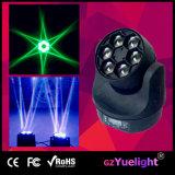 LED 6PCS 15W RGBW 4in1 꿀벌 눈 광속 세척 소형 이동하는 맨 위 빛 LED 이동하는 헤드