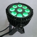 9X18W Rgbawuv 6in1, das im Freien wasserdichtes LED-Licht verdunkelt