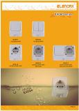 Oberfläche eingehangener Gruppe-Schalter der Wand-zwei
