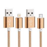 Nylon der Qualitäts-5V 2A isolierte der 8 Pin-Blitz USB-Kabel