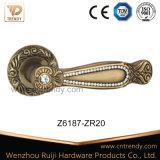 Роскошным установленная диамантом ручка рукоятки двери сплава цинка деревянная (Z6188-ZR11)