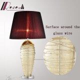 Lámpara de vector decorativa europea del acero inoxidable alrededor del alambre de cristal