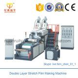 Doppelte Schicht-Koextrusion Strech Film-Herstellung-Maschine