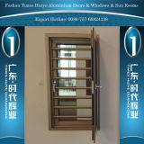 Ventana de aluminio de la seguridad con la doble vidriera