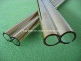 Tubo revestido del gemelo del vidrio de cuarzo del oro excelente de la calidad