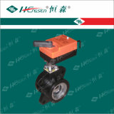 La vávula de bola motorizada Dqf-E/vávula de bola de cobre amarillo/HVAC controla productos