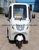 Triciclo elétrico novo com cabine cheia com corpo fechado