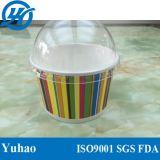 tazza di carta del gelato 6oz con il coperchio della cupola
