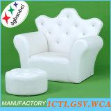 Sofá de los niños del cuero de la hebilla de la corona/silla de los cabritos/muebles de los cabritos (SXBB-17-02)