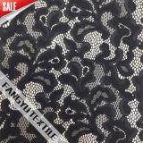 Tessuto a forma di foglia spesso nero/bianco del merletto