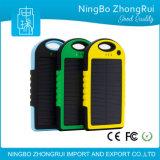 Batería impermeable vendedora caliente de la energía solar del cargador solar 5000mAh para los teléfonos móviles