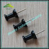 Pin principal en plastique de poussée de forme noire de traitement du modèle 23mm de métier