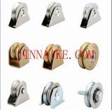 """4 """" трудное пластичное колесо V-Паза (UHMW) с бронзовыми буксами для строба или загородки, шкива цинка"""