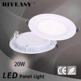 20W comitato chiaro rotondo dell'acrilico LED con gli indicatori luminosi di comitato di Ce&RoHS LED