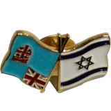 주문을 받아서 만들어진 연약한 사기질 친교 깃발 접어젖힌 옷깃 Pin (X-229)