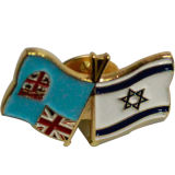 도매 금속 깃발 연약한 사기질 접어젖힌 옷깃 Pin (X-229)