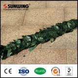 Cerca plástica falsa barata al aire libre de la hoja de la planta del PVC para la decoración del jardín