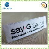 Het fabriek Aangepaste Etiket van de Was van de Zorg van de Doek van de Polyester van het Satijn/van de Zijde (JP-CL057)