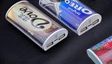 Заряжатель подтверженный BSCI высасывателя выхода фабрики двойного портативный телефона 5200mAh с светом рекламы