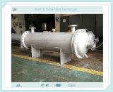 Shell y cambiador de calor del tubo para el enfriado del agua de mar y por aceite